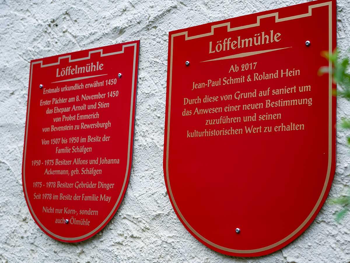 Bed and Breakfast Löffelmühle an der Elz: Historie der Mühle