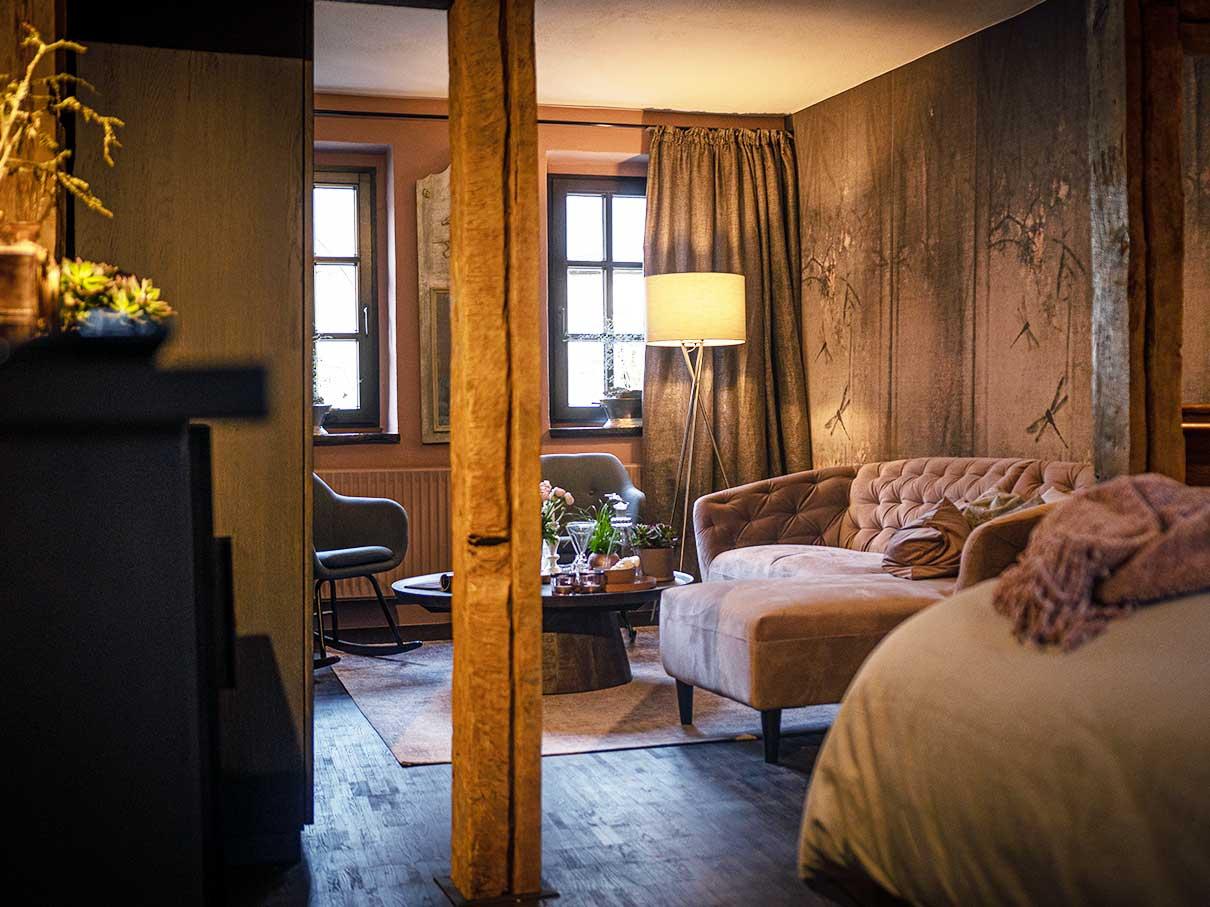 Bed and Breakfast Löffelmühle an der Elz: Das Zimmer Flora