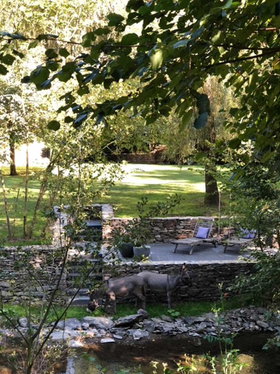 Bed and Breakfast Löffelmühle an der Elz: Unser Garten