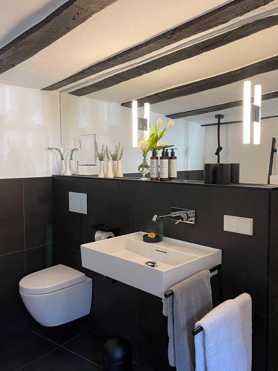Bed and Breakfast Löffelmühle an der Elz: Terra - Badezimmer