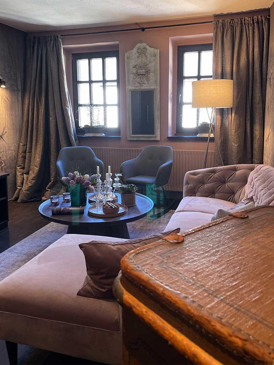 Bed and Breakfast Löffelmühle an der Elz: Unser Zimmer Flora